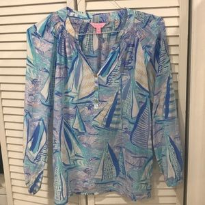 Lilly Pulitzer Elsa Top Medium EUC